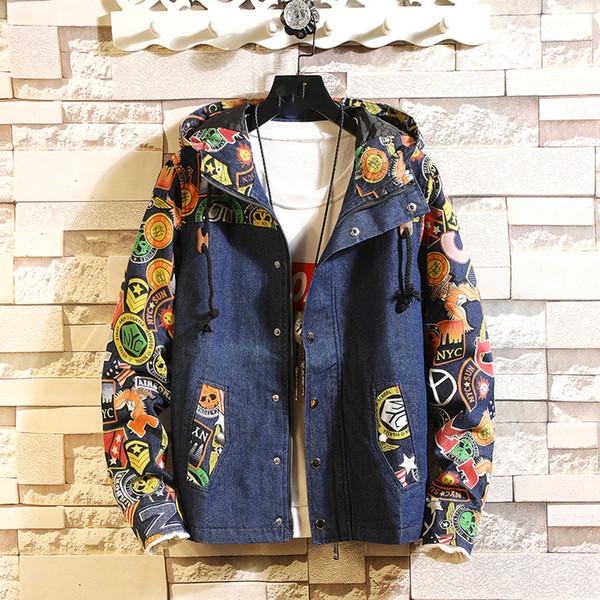 Мужские весенние джинсовые куртки и пиджаки с капюшоном Джинсовые пальто Новые м фото