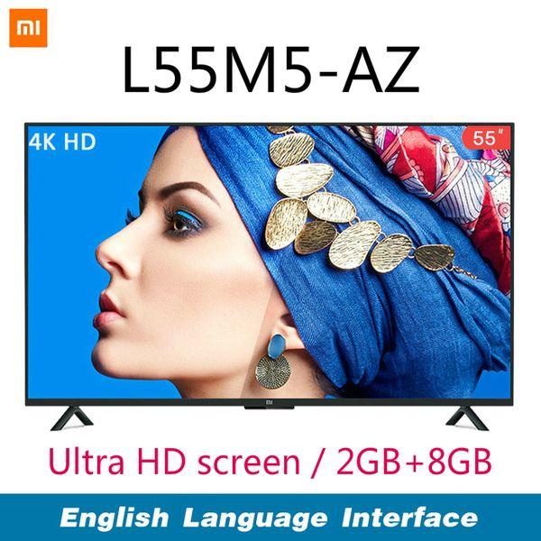 Xiaomi mart 4a 55 inche 3840 2160 fhd full 4k hd creen tv hdmi wifi ultra thin 2gb ram 8gb rom dolby ound flat tv