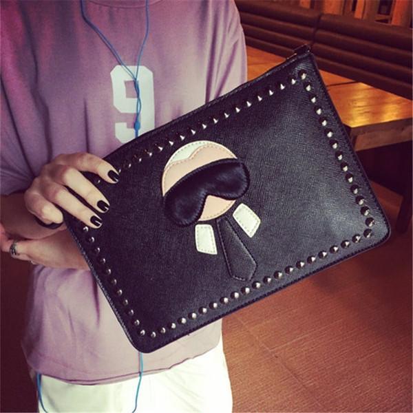 Персонализированные мультфильм дизайн моды Lafayette заклепки конверт сумка кошелек