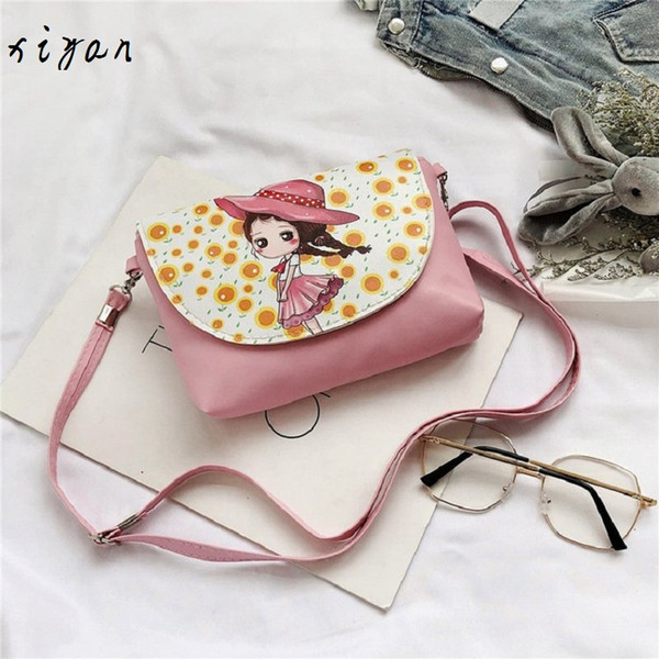 2019 girl coin purse handbag children wallet small coin box bag cute kid money bag baby shoulder change purse (496346157) photo