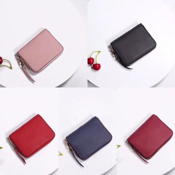 leather classic designer short wallet for women fashion leather purse money bag zipper pouch coin purse pocket note designer clutch (475334696) photo