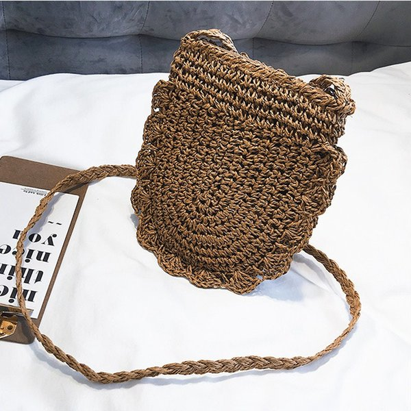 new fashion pretty women bag straw woven tote messenger shoulder bag girls summer beach lovely satchel purse vintage (487362938) photo