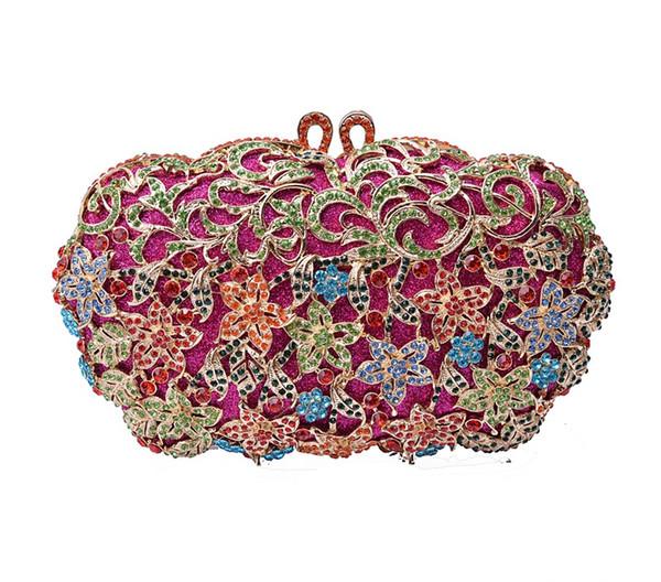 xiyuan crystal diamond evening bags purses gorgeous evening messenger bags women small clutch purse clutch bag wedding handbags (548479748) photo