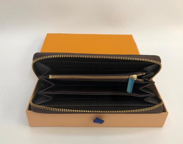 fashion men women long wallets famous pu leather wallet single zipper cross pattern clutch girl purse with box dust bag (514434123) photo