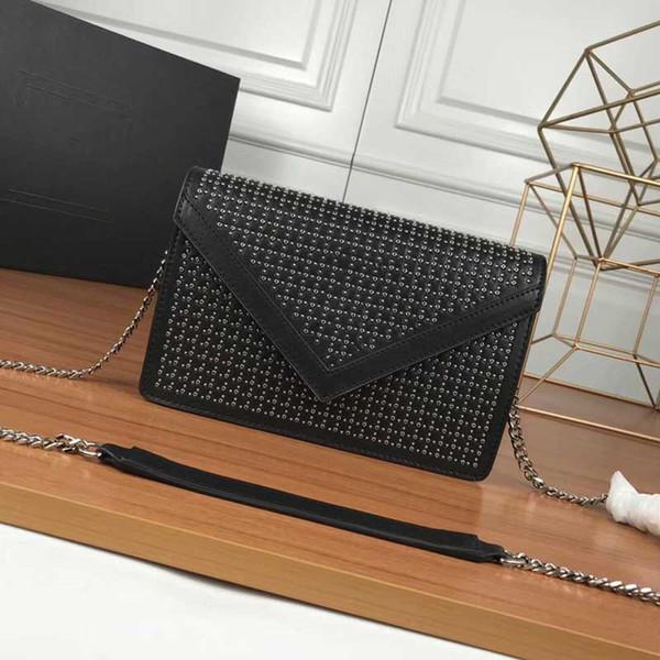 designer shoulder bags y fashion luxury famous purse chain purse bag rivet design bag (454923373) photo