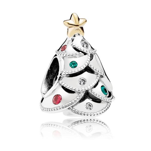Зима Рождественский Подарок Новый Стерлингового Серебра 925 Pandora Подвески Anillos Выс