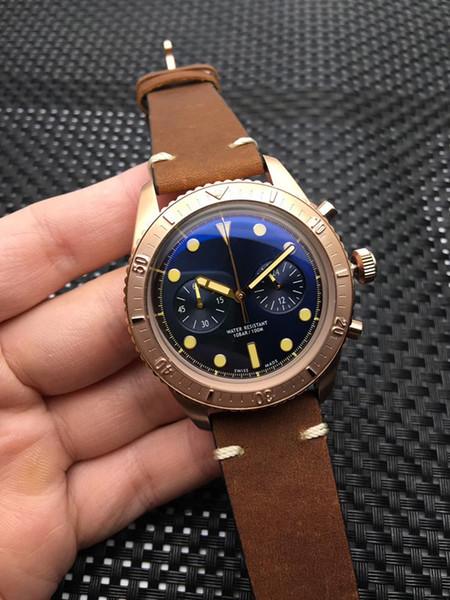 Мужские модные часы Japan VK с сферическим покрытием Часы с вращающимся стальным кол фото