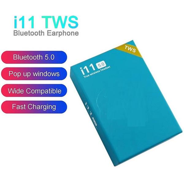 MOQ=5pcs I11 TWS беспроводные наушники Bluetooth наушники с всплывающим окном Близнецы мини-