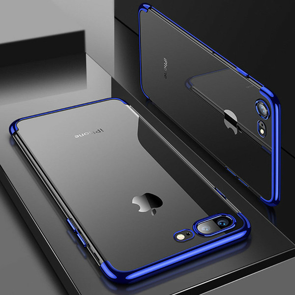 Роскошный ультратонкий противоударный силиконовый прозрачный чехол для Apple iPhone X фото