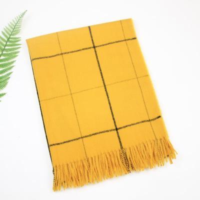 Осень и зима нового плед имитация кашемир шарф женская японская девушка сладкий шарф простой теплый платок шарф фото