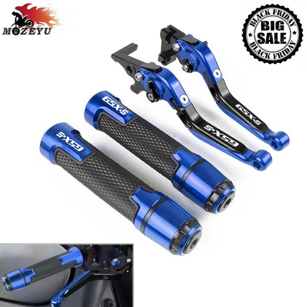 Laser//Blau Suzuk-i GSX-S125 Lenkergriffe Suzuk-i GSX-S1000F GSX S750
