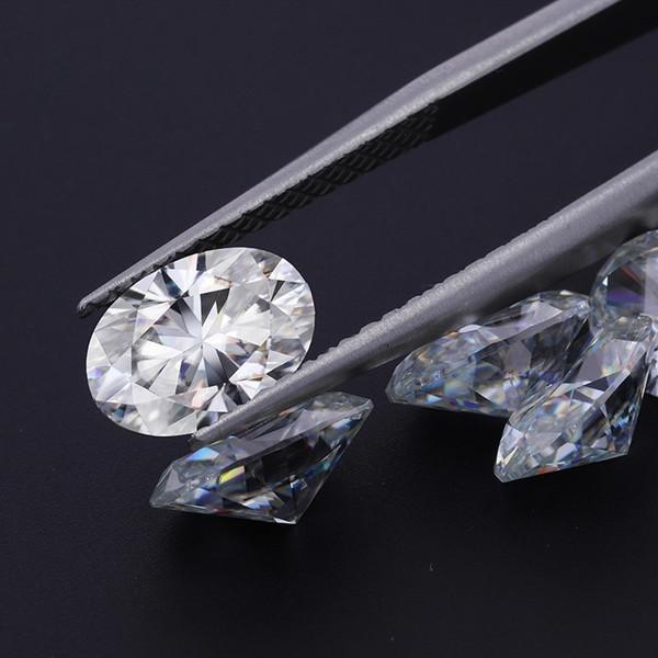 Бесплатная доставка цвет D ясность FL 0.1 CT до 6CT овальная огранка яйцевидная форма муассанит рыхлый камень с сертификатом пропуск алмазной ручки фото