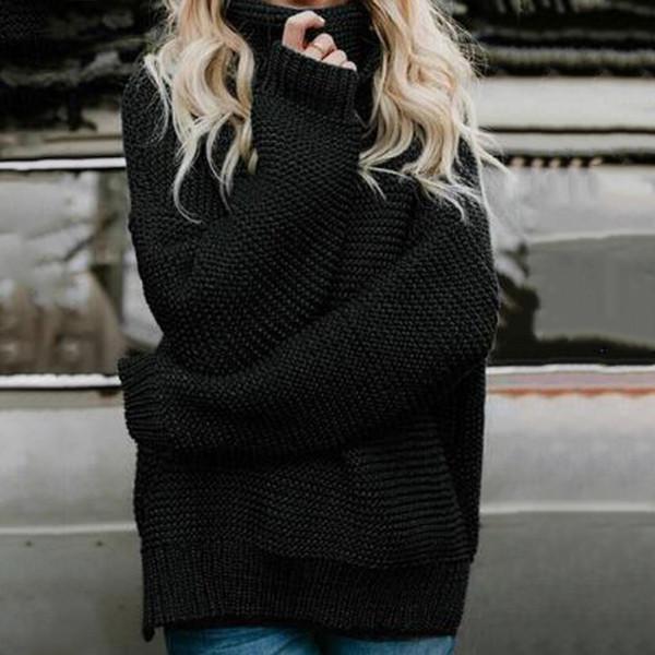Грубый пуловер женский джемпер свитер водолазка женский джемпер женский теплый свитер тонкий зимний кабель вязаный свободный свитер SJ3044 фото