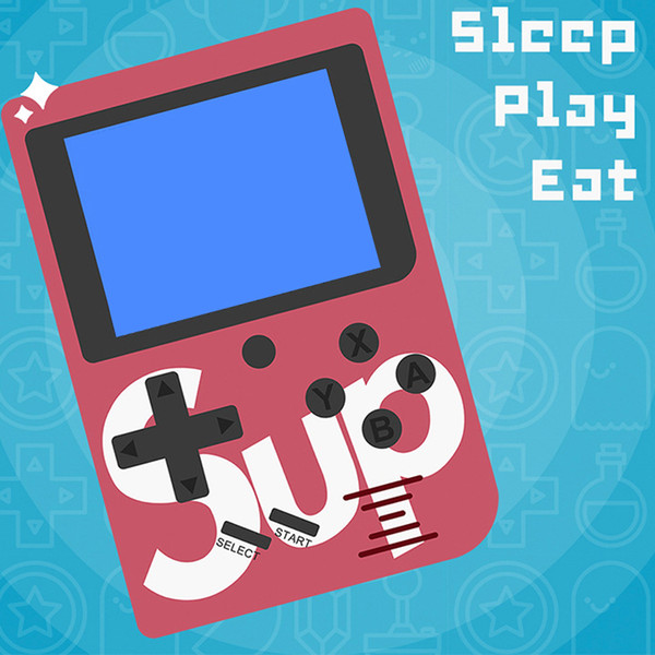 Sup mini handheld game con ole portable retro 8 bit fc model for fc 129 av game color lcd game player for fc game