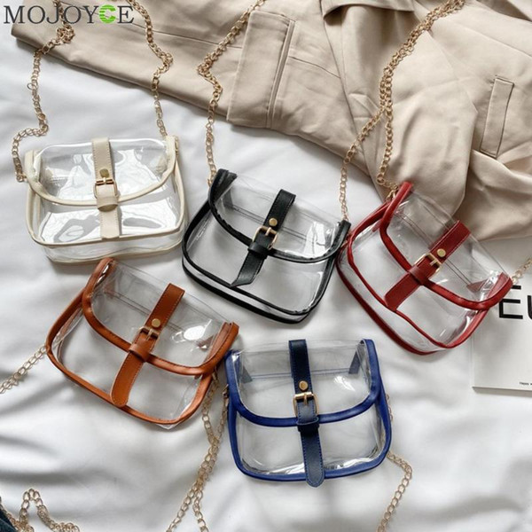 women transparent pvc handbag beach shoulder purse female jelly tote fashion clear shopping bag candy color purse (537184302) photo