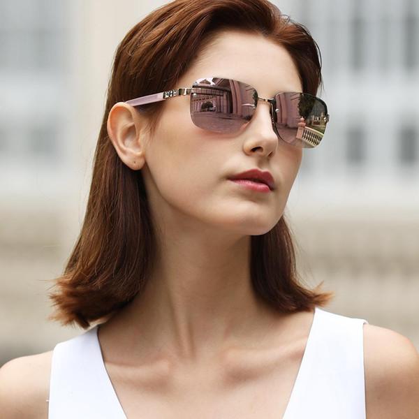 2020 новые европейские и американские модные солнцезащитные очки женские повседневные солнцезащитные очки Солнцезащитные очки многоцветный поляризатор из нержавеющей стали T200511 фото