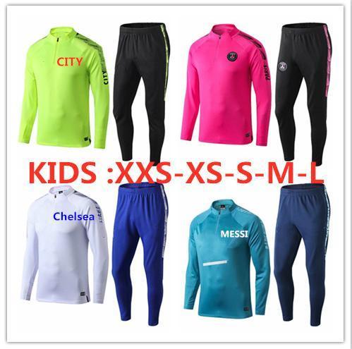 survetement foot Kids Paris Soccer Jacket 19 20 Real Madrid Kids Jackets Tracksuit RONALDO DYBALA Mbappe kids psg training suit child kit