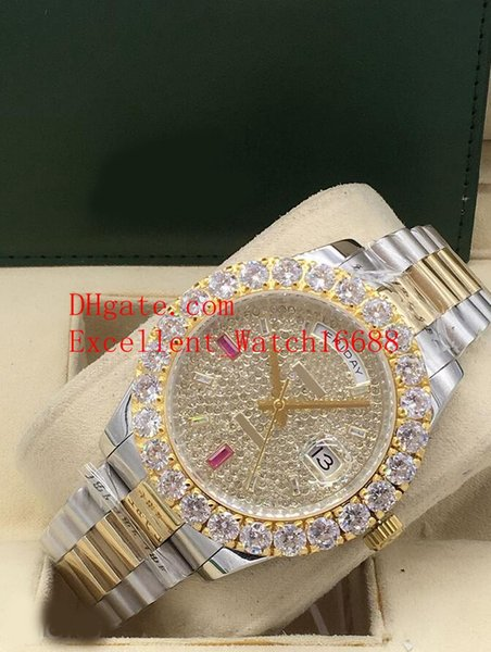5 colour quality Mens Watches 41 mm 118348 228349 228345 Day Date President Gypsophila Diamond Dial Asia 2813 Movement Automatic Mens Watc