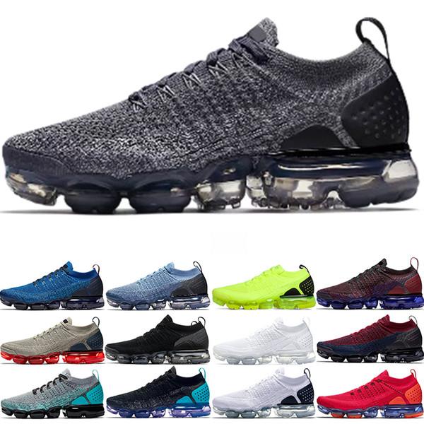 Nike Air Vapormax 2019 Xamropav 2.0 Мужчины Женщины Кроссовки Тройной Черный Белый Олимпийский К