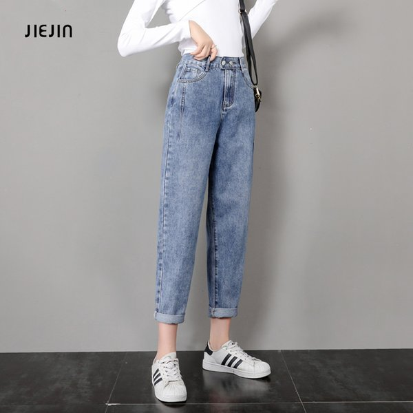 Jeans Female Autumn 2020 New Kind of Student Korean Edition Loose Slender Straight Cylinder Net Red Daddy Pants