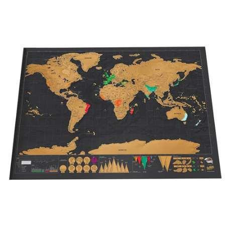 Делюкс Стереть Черную Карту Мира Скретч Карта Мира Персонализированные Путешест фото