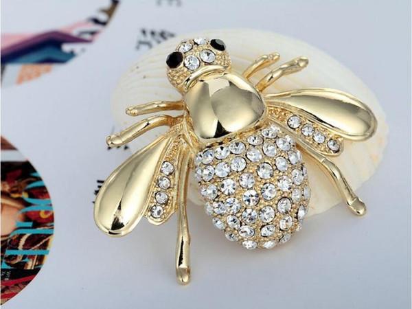Золото Siliver Новый Высокое Качество Мода Горный Хрусталь Животных Брошь Ювелирные фото