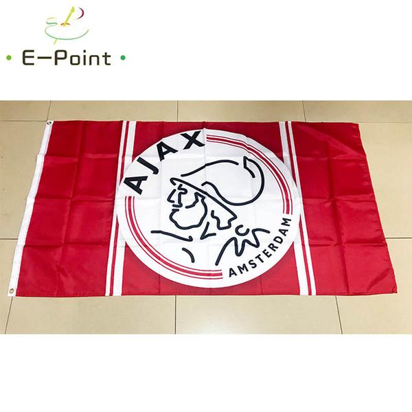 Голландия AFC Ajax 3 * 5 футов (90 см * 150 см) полиэстер флаг баннер нидерланды украшения л фото