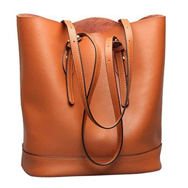 Сумка плеча Tote, неподдельная сумка больших размеров для женщин