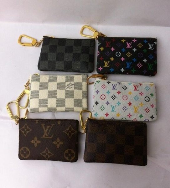 Brand New Key Pouch Damier Canvas Holds High Quality Famous Classical Designer Women Key Holder Coin Purse
