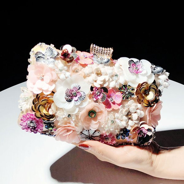 xianjian handmade 3d flower party purse floral evening bag handbag purse bolsas gorgeous wedding flora bag (512261130) photo