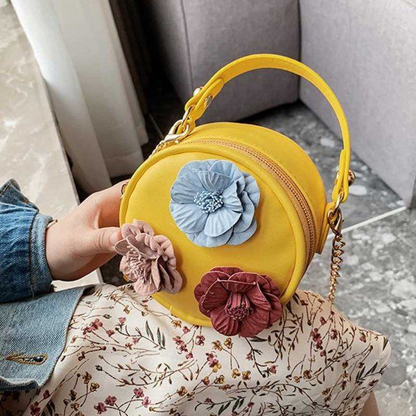 children's small round bag creative cute flower female bag coin purse baby mobile phone purse for girl little children small (545392270) photo