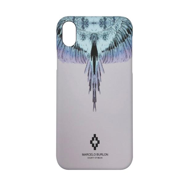 Yunrt wing  pattern marcelo burlon hard pla tic cover ca e for iphone 6 6    plu  7 7plu  8 8plu  x  treet culture phone ca e