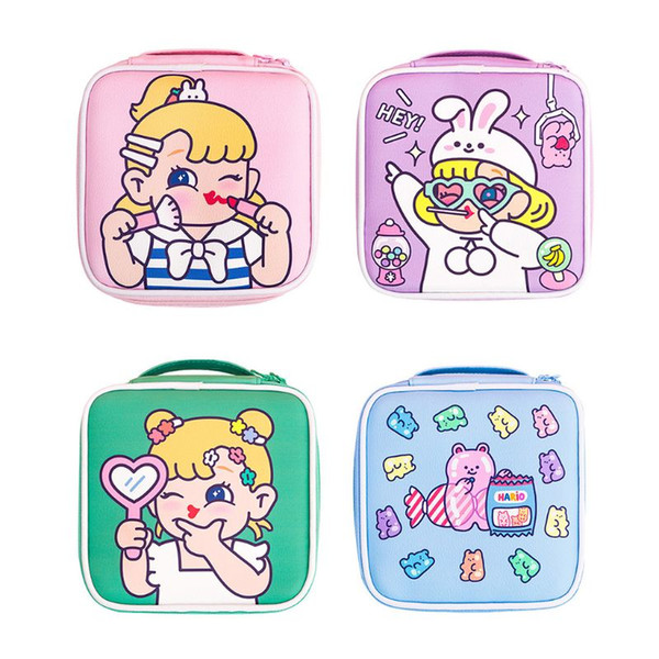 women lady cartoon travel makeup bag cosmetic pouch purse casual purse storage organizer (520545550) photo
