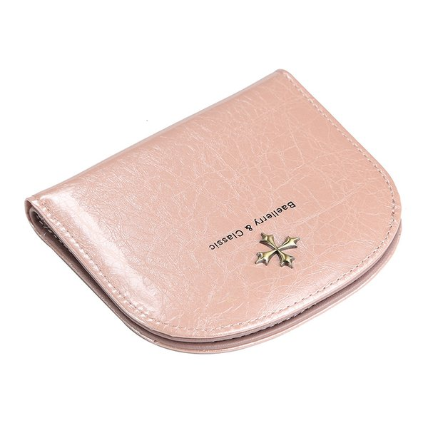brand women wallet small zipper female coin purse flower decor leather mini ladies wallet girl short bi-fold card holders (483552735) photo