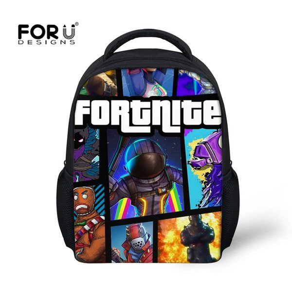 FORUDESIGNS 12 inch   Backpack Small School Bags for Boys Schoolbags for Kids Baby Cartoon Book Bag
