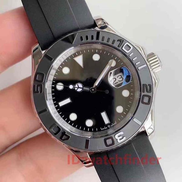 New 2019 black rubber oy terflex trap yacht ceramic bezel ma ter men ro e gold luxury watch automatic reloj ma ter wri twatche watche