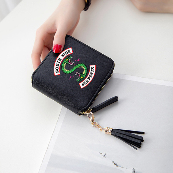 riverdale wallets 3d print tassel wallet women mini purse american popular tv accessories short zipper card bags lady wallets (473181920) photo