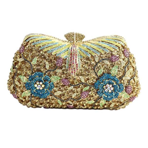 sparkly crystal diamond evening bags women clutch purse evening purses wedding crystal clutch bags bridal handbags (549857769) photo