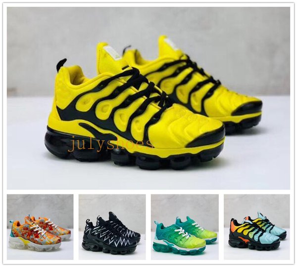 New luxury designer baby Children's Running Shoes TN plus boys girls maxes trainers 1 knit sneakers Air cushion kids shoes Size:28-35