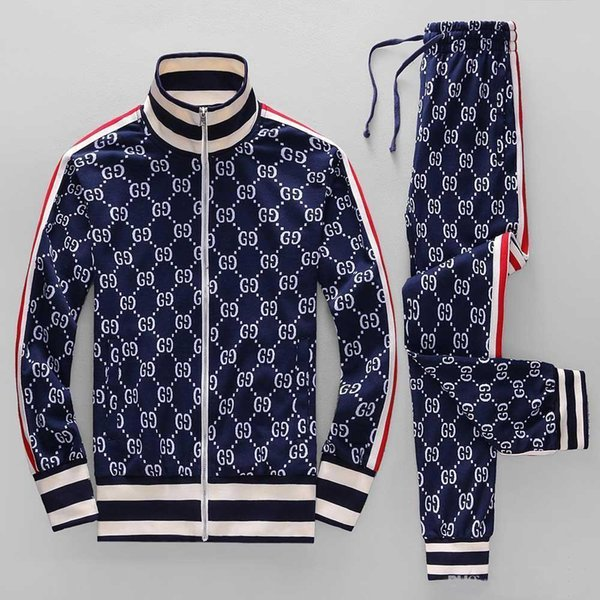 18ss year sportswear jacket suit fashion running sportswear Medusa men's sports suit letter printing clothing tracksuit sports