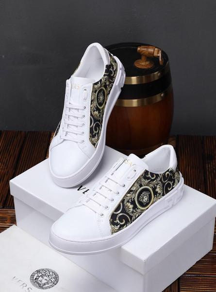 2019h роскошная мужская повседневная обувь, кожаная спортивная обувь, обувь на шнур