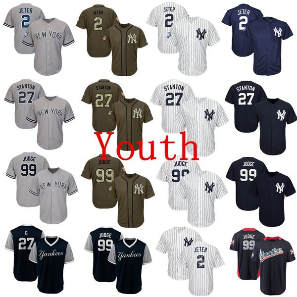 Men/'s New York Yankees 99# Aaron Judge Fashion Jersey Navy//Gray//White M-3XL