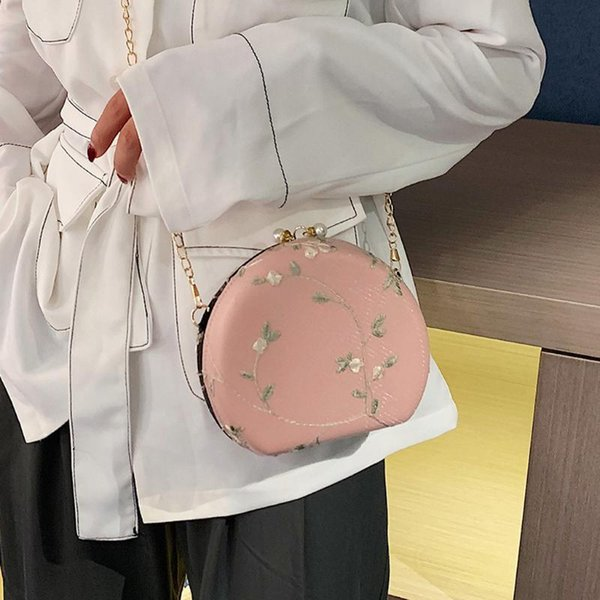 women flower pattern handbag peach heart-shaped lace crossbody bag girl hasp chain shoulder bag women bolsa feminina purse (523225209) photo