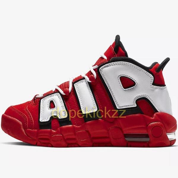 Air More Uptempo Баскетбольные кроссовки Мужчины Женщины Высококачественные красные кр фото