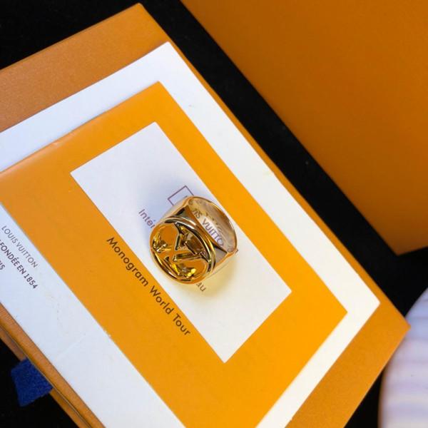Старый цветок письмо кольцо умный блестящий дизайн кольцо но чувствительный не выцветший 18 карат Золотое кольцо мода ювелирные изделия поставки фото