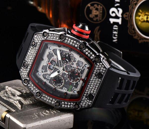 Оптовая Мужская мода швейцарские часы Все циферблатом работы хронографа Алмазны фото