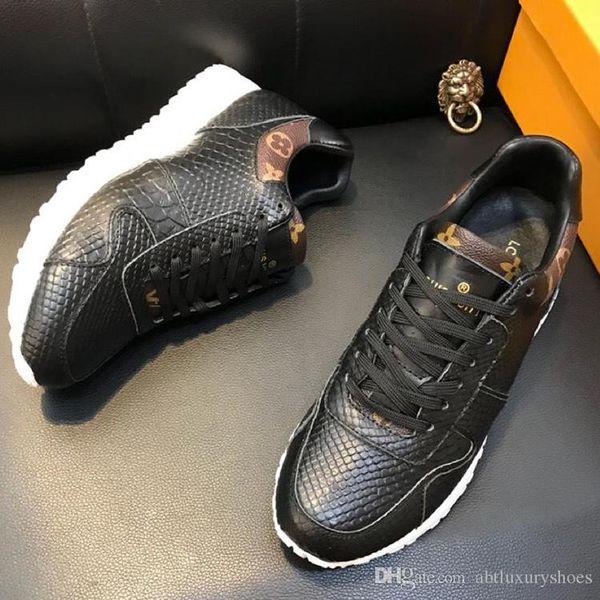 Men Shoes Luxury Running Sneakers Winter Sports Footwear Casual Design Mens Shoes 1A418K RUN AWAY SNEAKER Original Box 2018 Winter Footwear