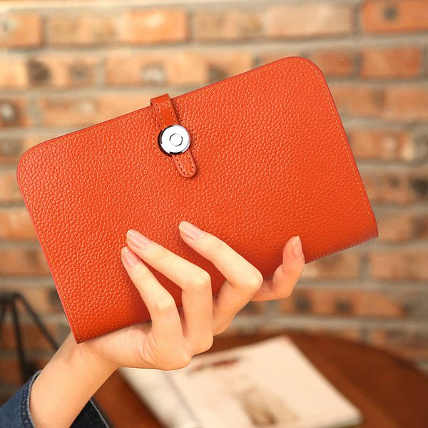 2019women wallets fashion litchi grain cowhide leather purses zipper wallet womens wallets and purses bag (475074834) photo