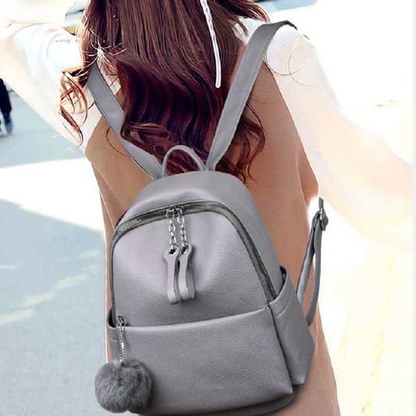 2020 new backpack women travel backpack soft leather lady purse purse (530130525) photo