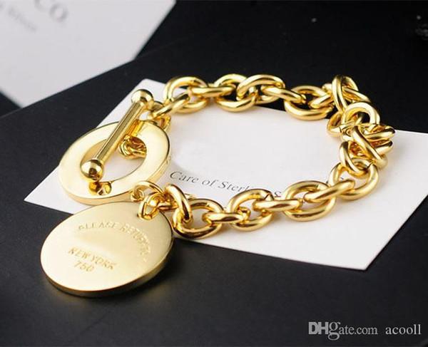 316L Титановая сталь позолоченное сердце кулон браслет для женщин OT пряжка браслет ювелирные изделия фото